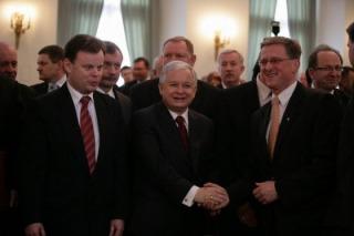 Gratulacje od Prezydenta RP prof.Lecha Kaczyńskiego, w Pałacu Prezydenckim w Warszawie.