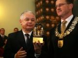 Prezydent RP Lech Kaczyński- Przewodniczacy Rady Miasta Nowego Sącza Artur Czernecki