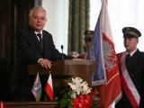 noHonorowy Obywatel Miasta Nowego Sącza Prezydent Rzeczypospolitej Polskiej Lech Kaczyński