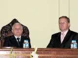 Prezydent RP Lech Kaczyński- przewodniczacy Rady Miasta Artur Czernecki