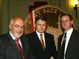 Od lewej Krzysztof Pawłowski,Leszek Balcerowicz,Artur Czernecki