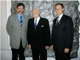 Od lewej Jerzy Giza,Ryszard Kaczorowski,Artur Czernecki