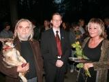Otwarcie Małej Galerii na Plantach od lewej Andrzej Szarek.Artur Czernecki.Alicja Hebda