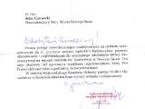 Podziękowania Wojewódzki Komitet Ochrony Pamięci Walk i Męczeństwa w Krakowie