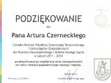 Podziekowanie  za udział w Komisji Wspólnej Samorzadu Gospodarczego i Samorządów Gospodarczych  dal Powiatu Nowosądeckiego i Miasta  Nowego Sącza