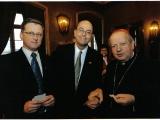 Foto. T. Warczak - Spotkanie Noworoczne 11-01-2010 - Od lewej A. Czernecki, Allen Greenberg, Kard. St. Dziwisz